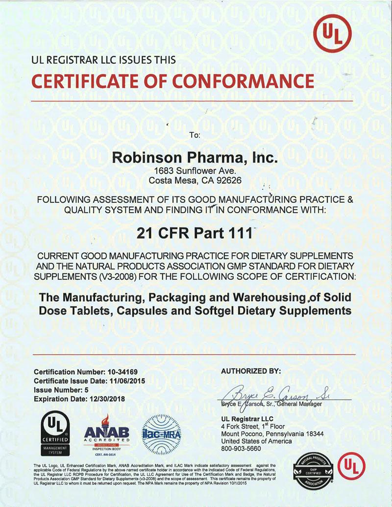 Robinsonul Str Gmp Certificate Nasc Live